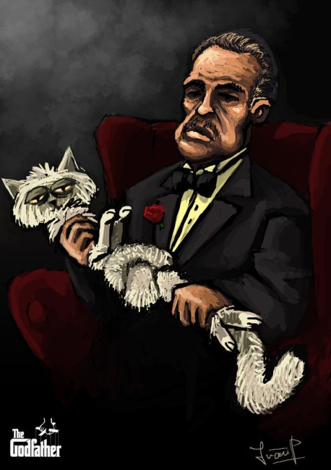 the__godfather__with__his_cat_by_naujack